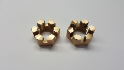 Brass Castle Nuts