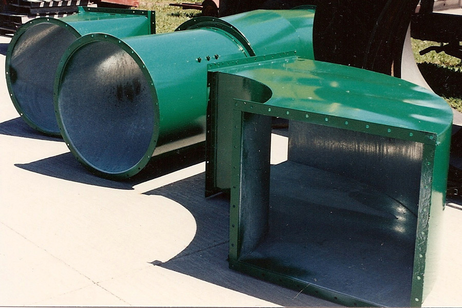 Round Ductwork and Square Elbow - EleMETAL Fabrication and